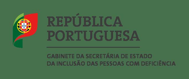 Logo da República portuguesa gabinete da secretaria de estado da pessoa com deficiência